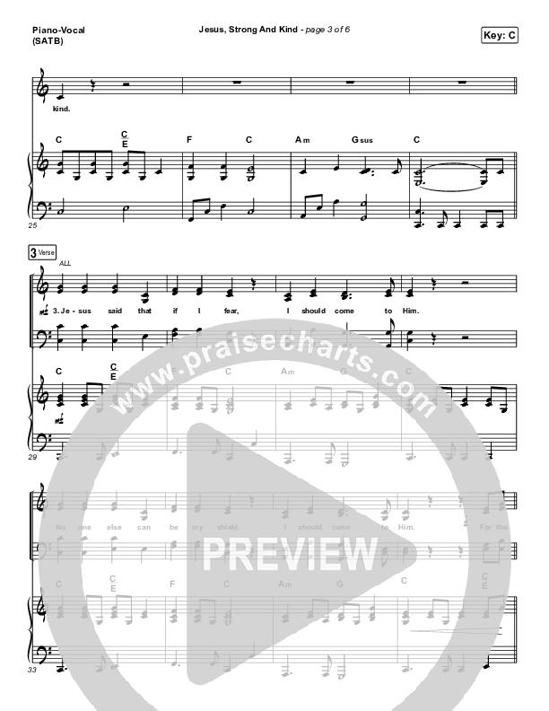 Jesus Strong And Kind Piano/Vocal (SATB) (CityAlight)