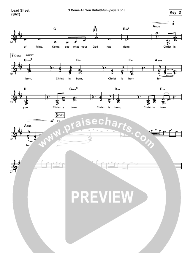 O Come All You Unfaithful (Choral) Piano/Vocal Pack (Choral) (PraiseCharts Choral / Sovereign Grace / Arr. Luke Gambill)