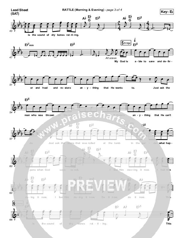 RATTLE! (Morning & Evening) Lead Sheet (SAT) (Elevation Worship)