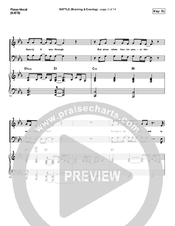 RATTLE! (Morning & Evening) Piano/Vocal (SATB) (Elevation Worship)