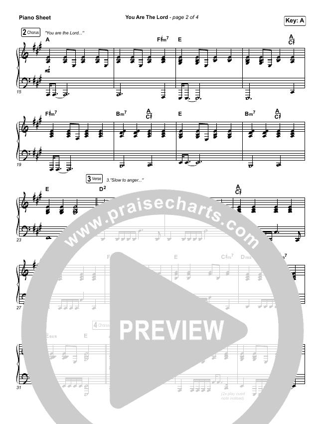 You Are The Lord Piano Sheet (Passion / Brett Younker / Naomi Raine)