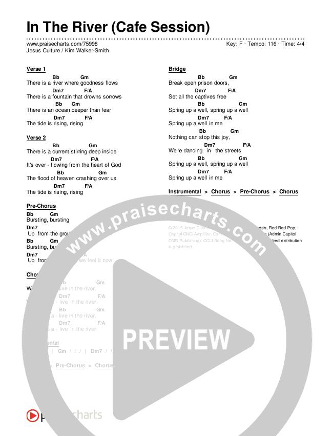 In The River (Cafe Session) Chords & Lyrics (Jesus Culture / Kim Walker-Smith)