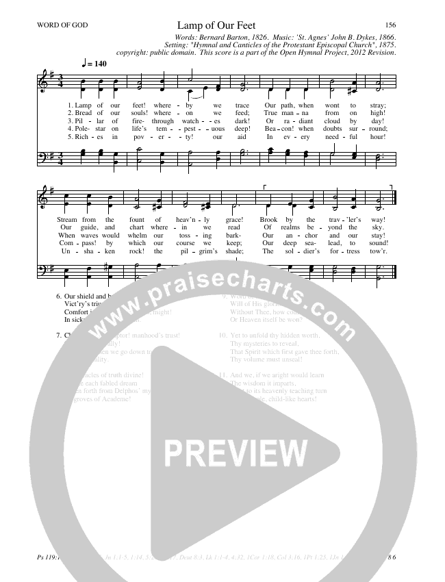 Lamp Of Our Feet Hymn Sheet (SATB) (Traditional Hymn)