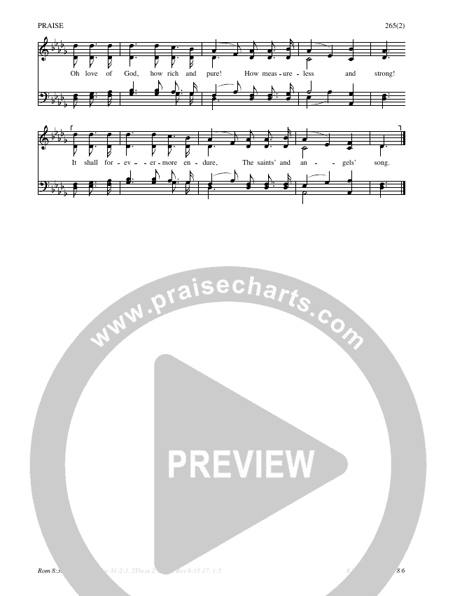 The Love Of God Hymn Sheet (SATB) (Traditional Hymn)