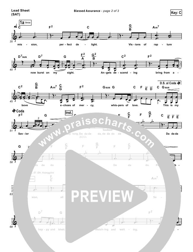 Blessed Assurance Rhythm Chart (Third Day)