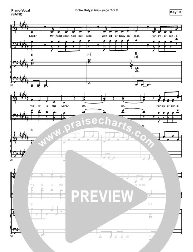 Echo Holy Piano/Vocal (SATB) (Red Rocks Worship)
