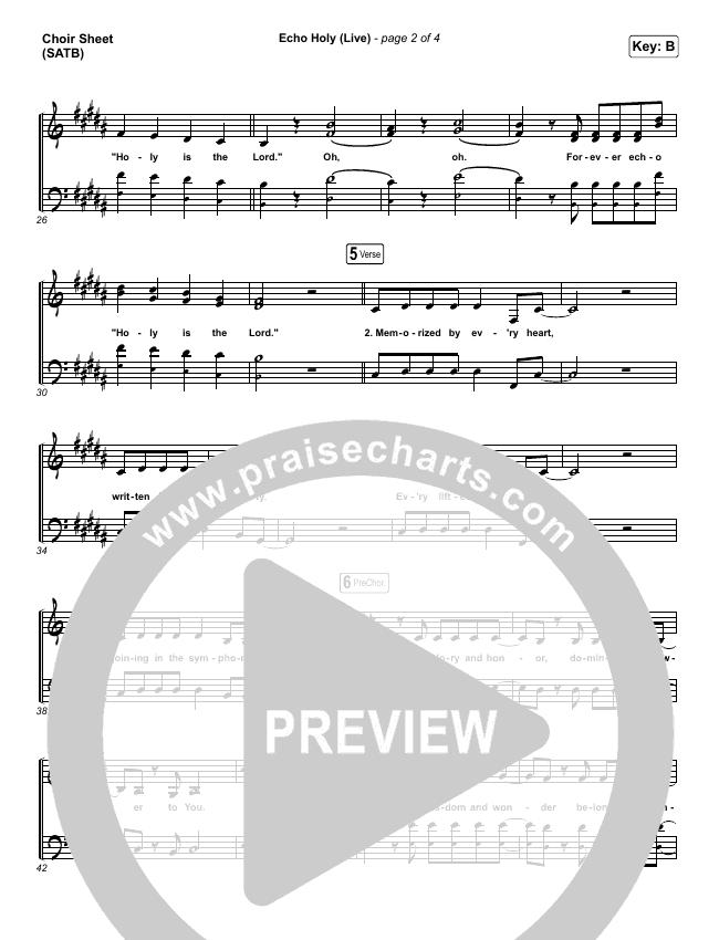 Echo Holy Choir Sheet (SATB) (Red Rocks Worship)
