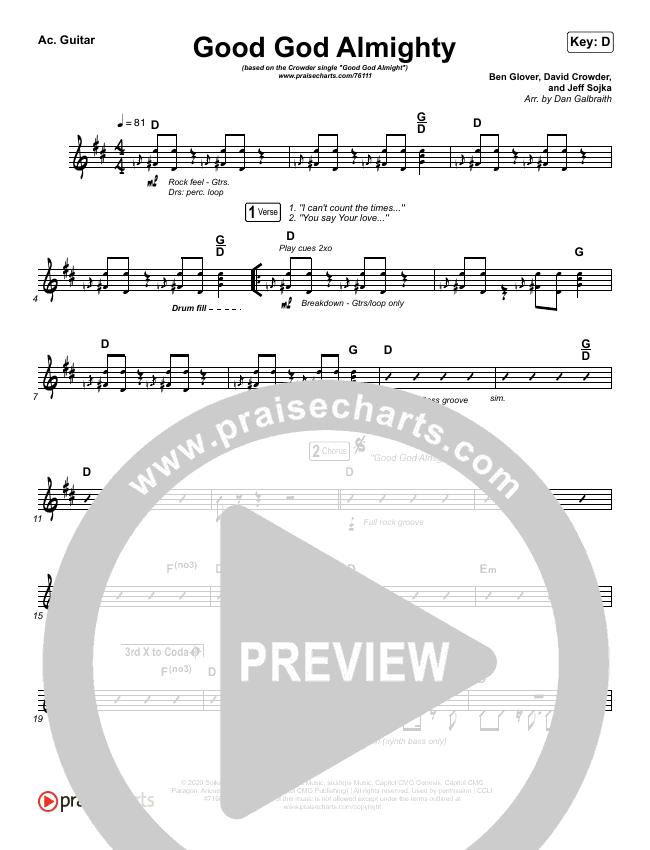 Good God Almighty Rhythm Chart (Crowder)