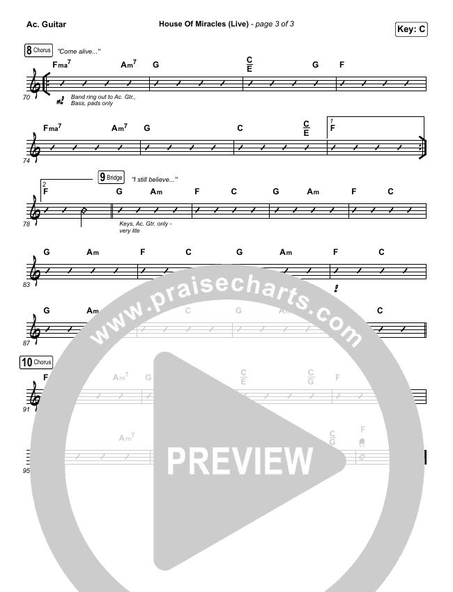 House Of Miracles (Live) Rhythm Chart (Brandon Lake)