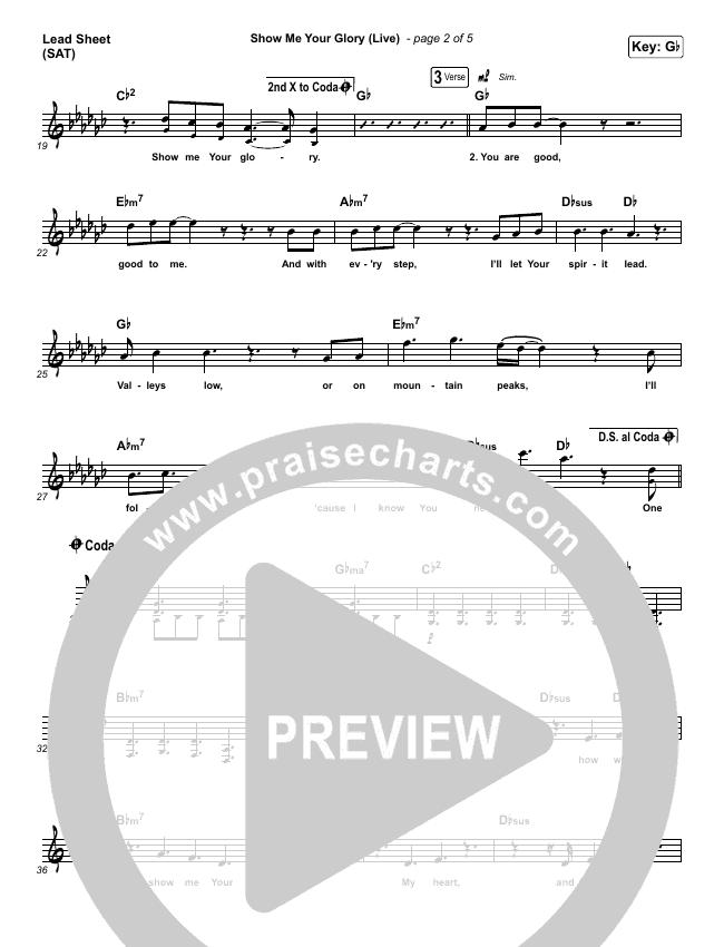 Show Me Your Glory (Live) Piano/Vocal Pack (Brandon Lake / Leeland)