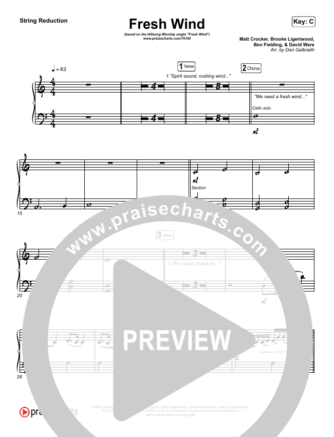 Fresh Wind String Pack (Hillsong Worship)