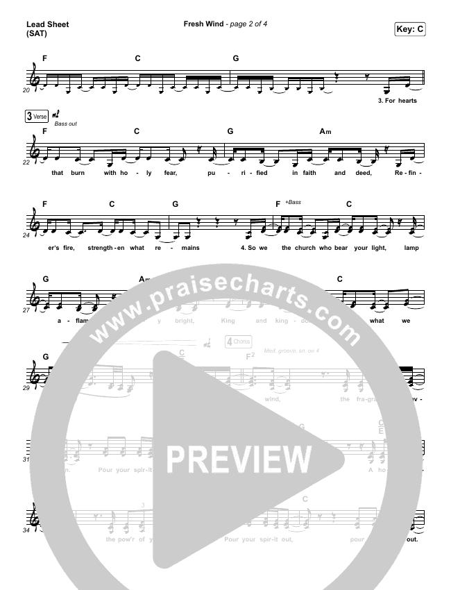 Fresh Wind Piano/Vocal Pack (Hillsong Worship)