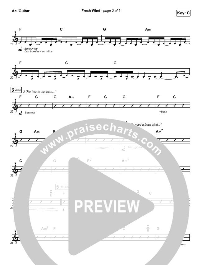 Fresh Wind Rhythm Chart (Hillsong Worship)