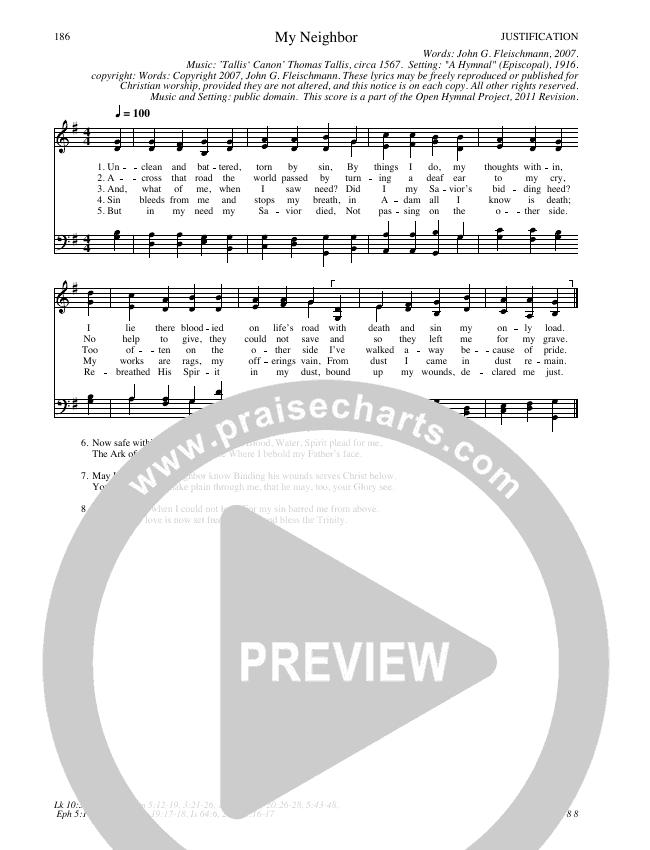 My Neighbor Hymn Sheet (SATB) (Traditional Hymn)