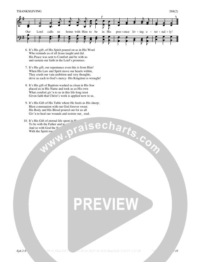 His Gifts Hymn Sheet (SATB) (Traditional Hymn)