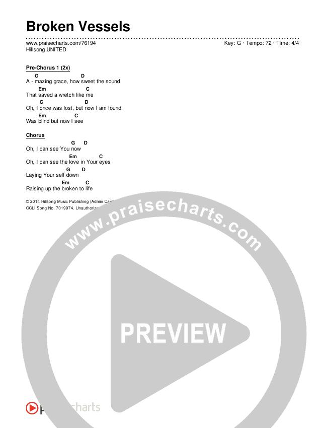 Broken Vessels (Amazing Grace) (Live) Chords & Lyrics (Hillsong UNITED)
