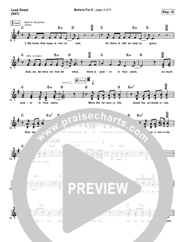 Believe For It Orchestration & Finale (CeCe Winans)
