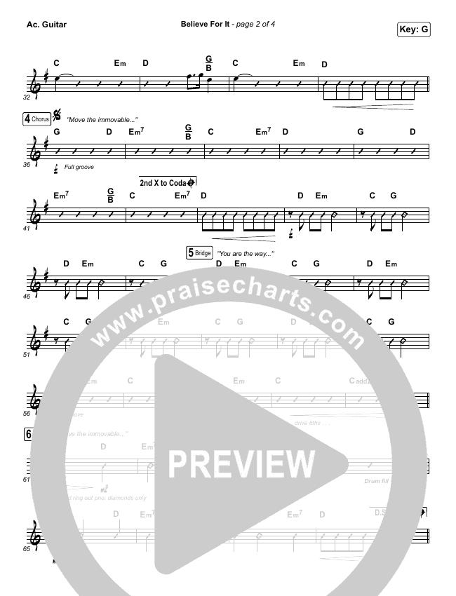 Believe For It Rhythm Chart (CeCe Winans)
