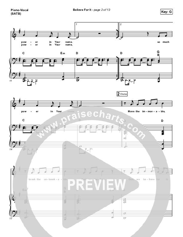Believe For It (Live) Piano/Vocal (SATB) (CeCe Winans)