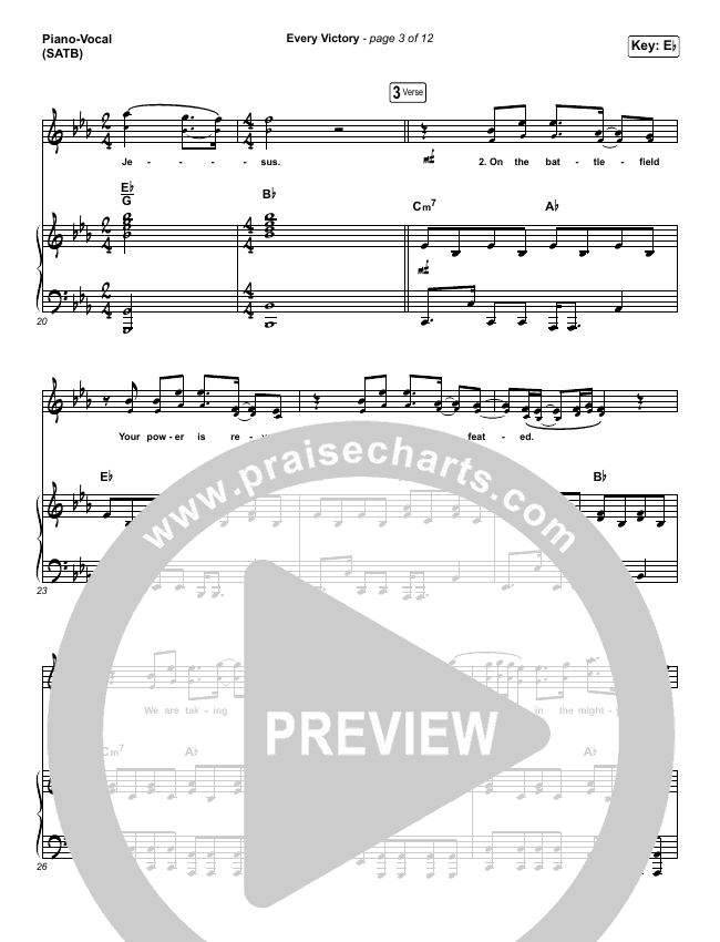Every Victory Piano/Vocal (SATB) (The Belonging Co / Danny Gokey)