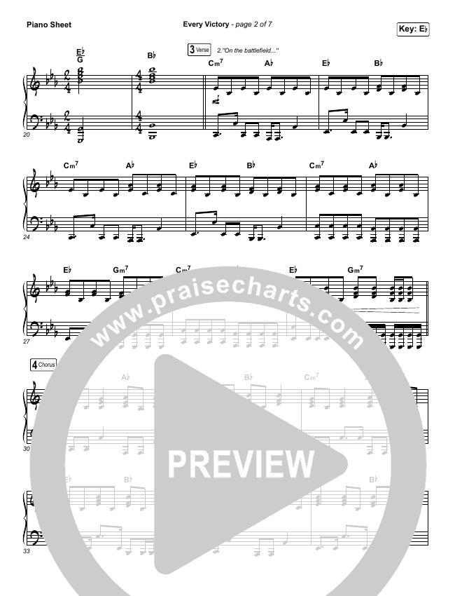 Every Victory Piano Sheet (The Belonging Co / Danny Gokey)