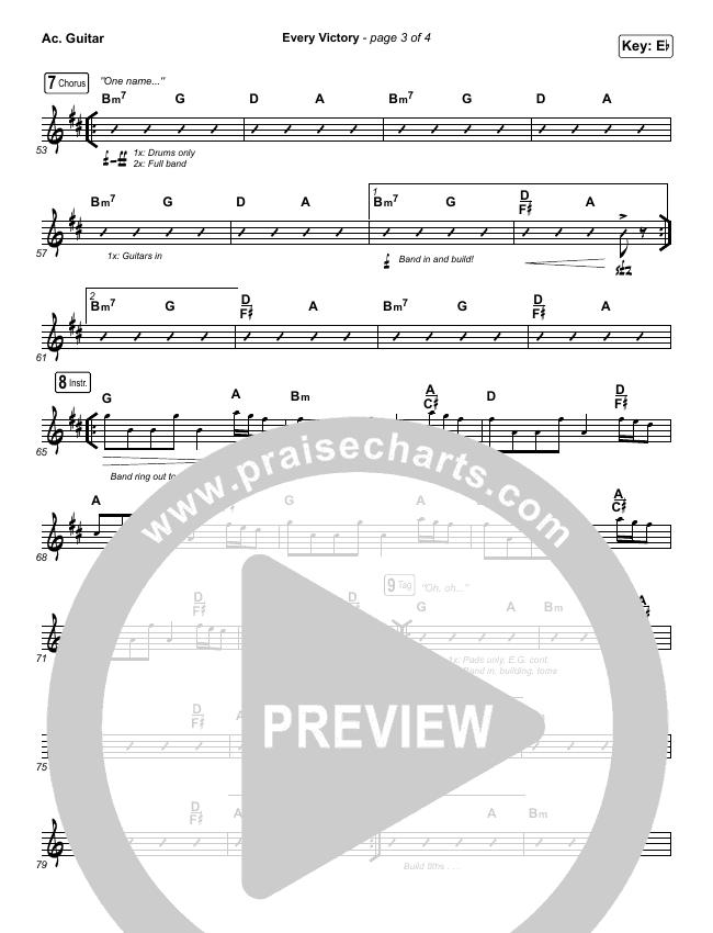 Every Victory Rhythm Chart (The Belonging Co / Danny Gokey)