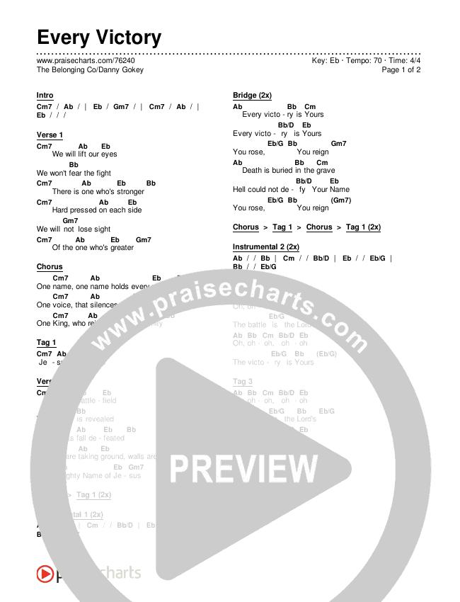 Every Victory Chords & Lyrics (The Belonging Co / Danny Gokey)