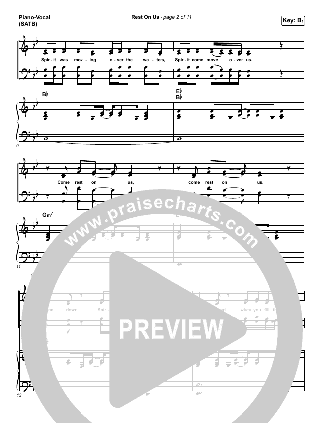 Rest On Us Piano/Vocal (SATB) (Maverick City / UPPERROOM / Brandon Lake / Eniola Abioye)