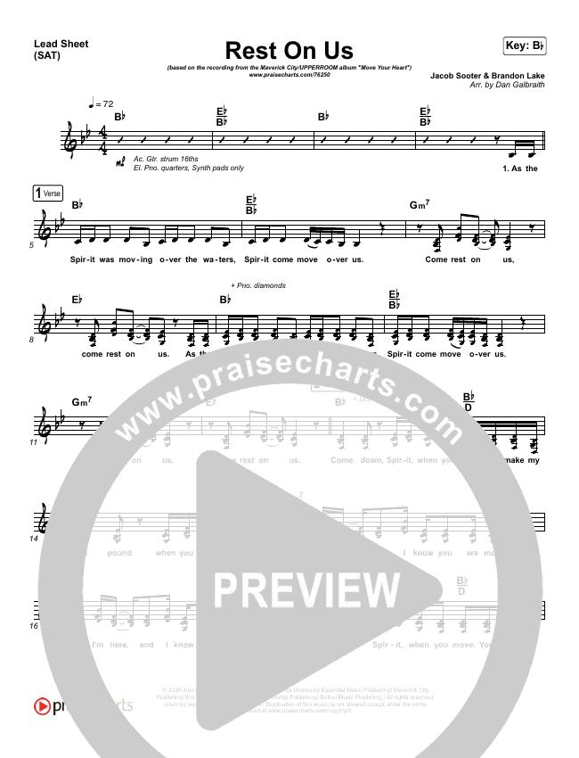 Rest On Us Piano/Vocal Pack (Maverick City / UPPERROOM / Brandon Lake / Eniola Abioye)