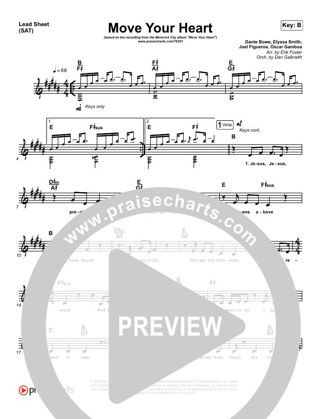 Move Your Heart Lead & Piano/Vocal (Maverick City Music / UPPERROOM / Dante Bowe / Elyssa Smith)