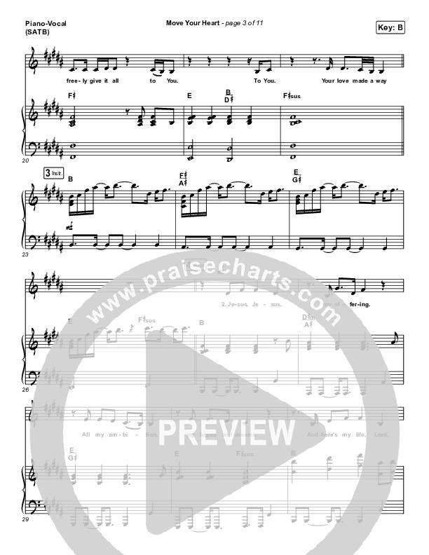 Move Your Heart Piano/Vocal (SATB) (Maverick City Music / UPPERROOM / Dante Bowe / Elyssa Smith)