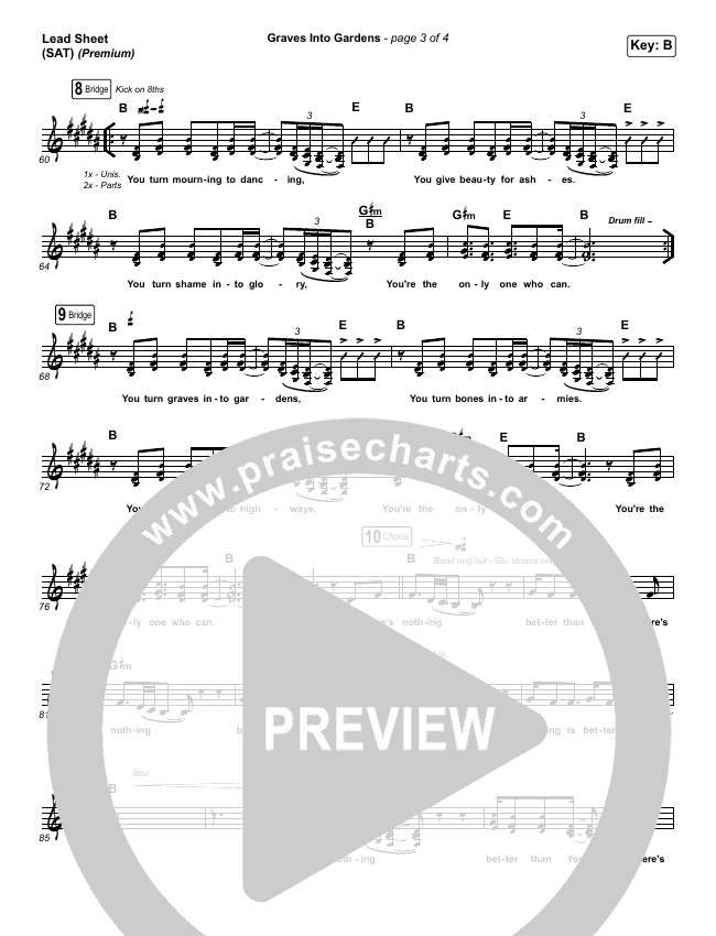 Graves Into Gardens (Live) (Premium) Orchestration & Finale (Elevation Worship / Brandon Lake / Arr. Cliff Duren)