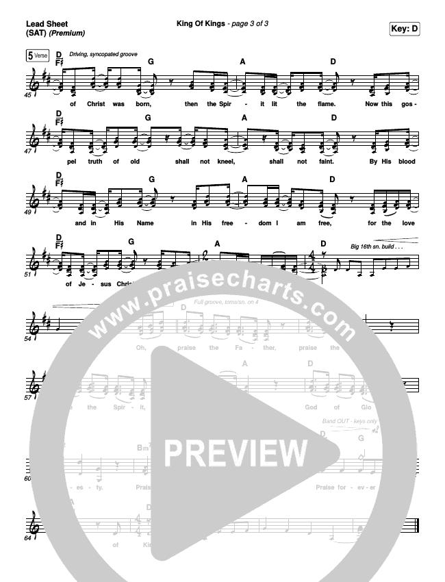 King Of Kings (Premium) Orchestration & Finale (Hillsong Worship / Arr. Cliff Duren)