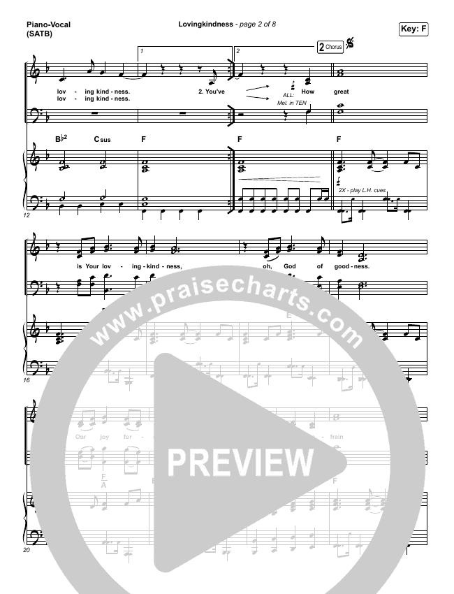 Lovingkindness Piano/Vocal (SATB) (Keith & Kristyn Getty / Matt Redman / Matt Boswell / Matt Papa)