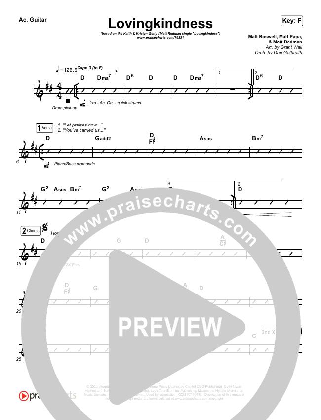 Lovingkindness Rhythm Chart (Keith & Kristyn Getty / Matt Redman / Matt Boswell / Matt Papa)