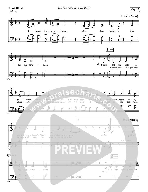 Lovingkindness Choir Sheet (SATB) (Keith & Kristyn Getty / Matt Redman / Matt Boswell / Matt Papa)