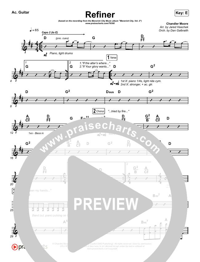 Refiner Rhythm Chart (Maverick City Music / Steffany Gretzinger)