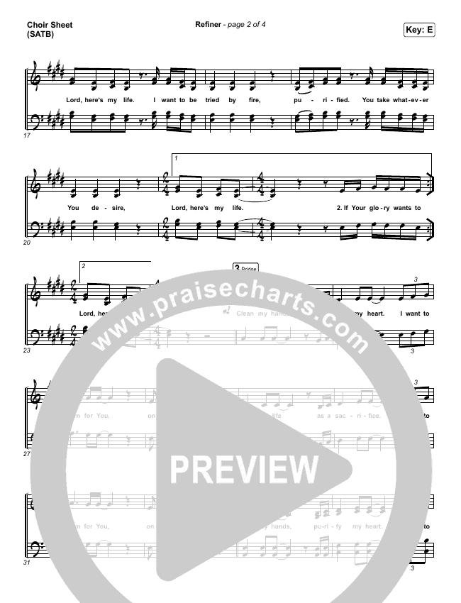 Refiner Choir Sheet (SATB) (Maverick City Music / Steffany Gretzinger)