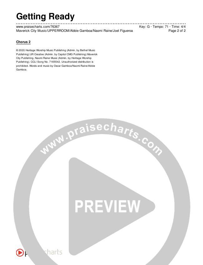Getting Ready Chords & Lyrics (Maverick City Music / UPPERROOM / Abbie Gamboa / Naomi Raine / Joel Figueroa)