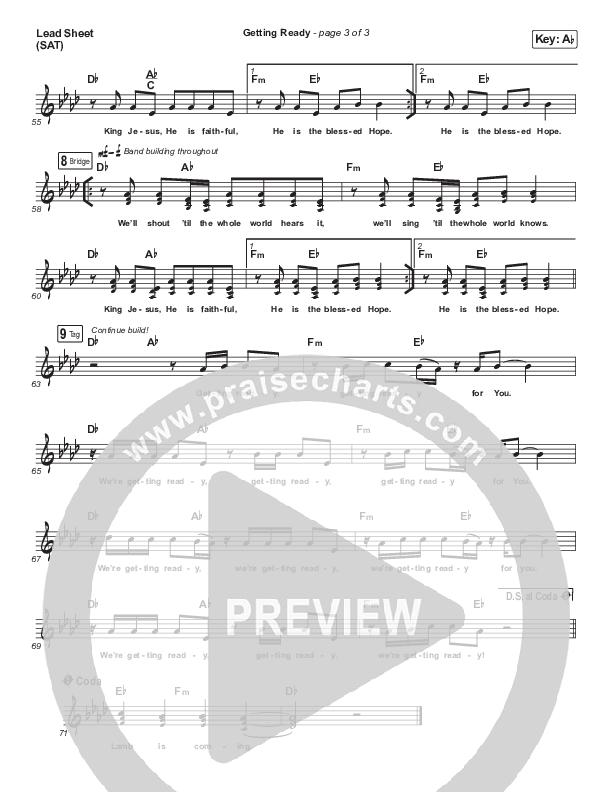 Getting Ready Lead Sheet (SAT) (Maverick City Music / UPPERROOM / Abbie Gamboa / Naomi Raine / Joel Figueroa)