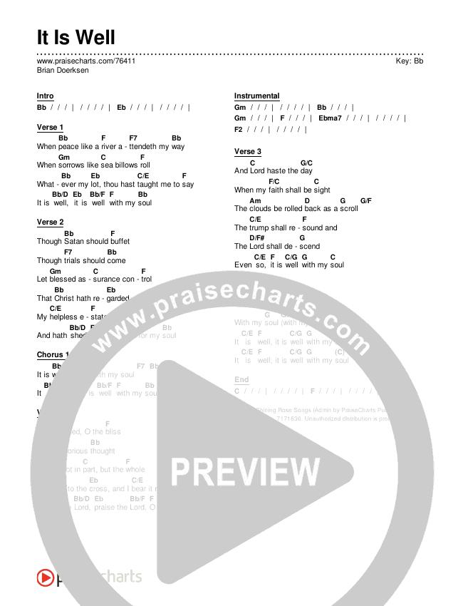 It Is Well Chords & Lyrics (Brian Doerksen)