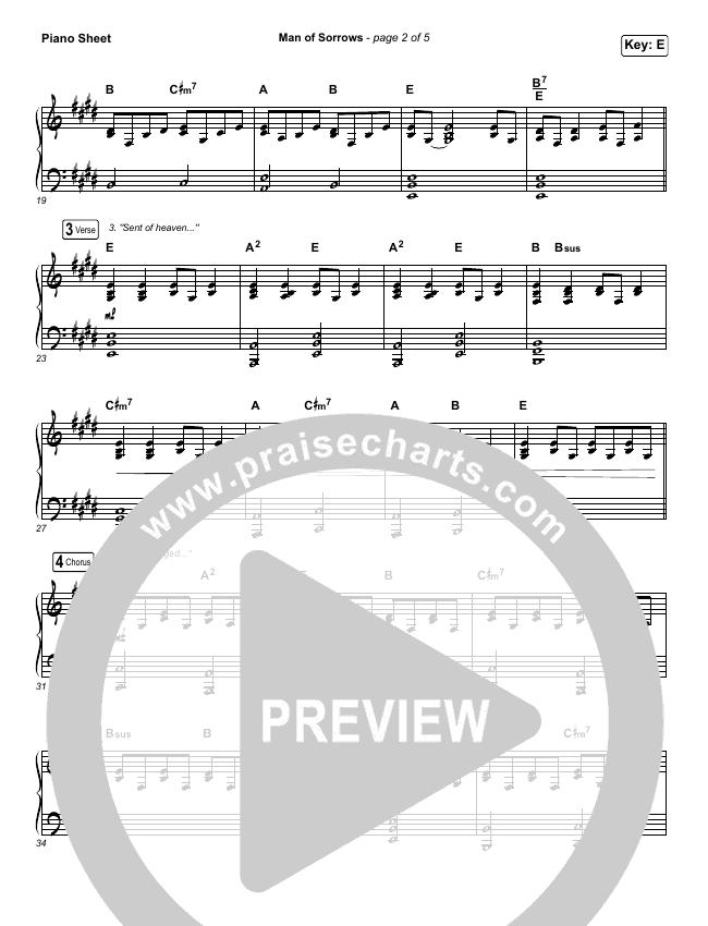 Man Of Sorrows - Passion Piano Sheet (Hillsong Worship)