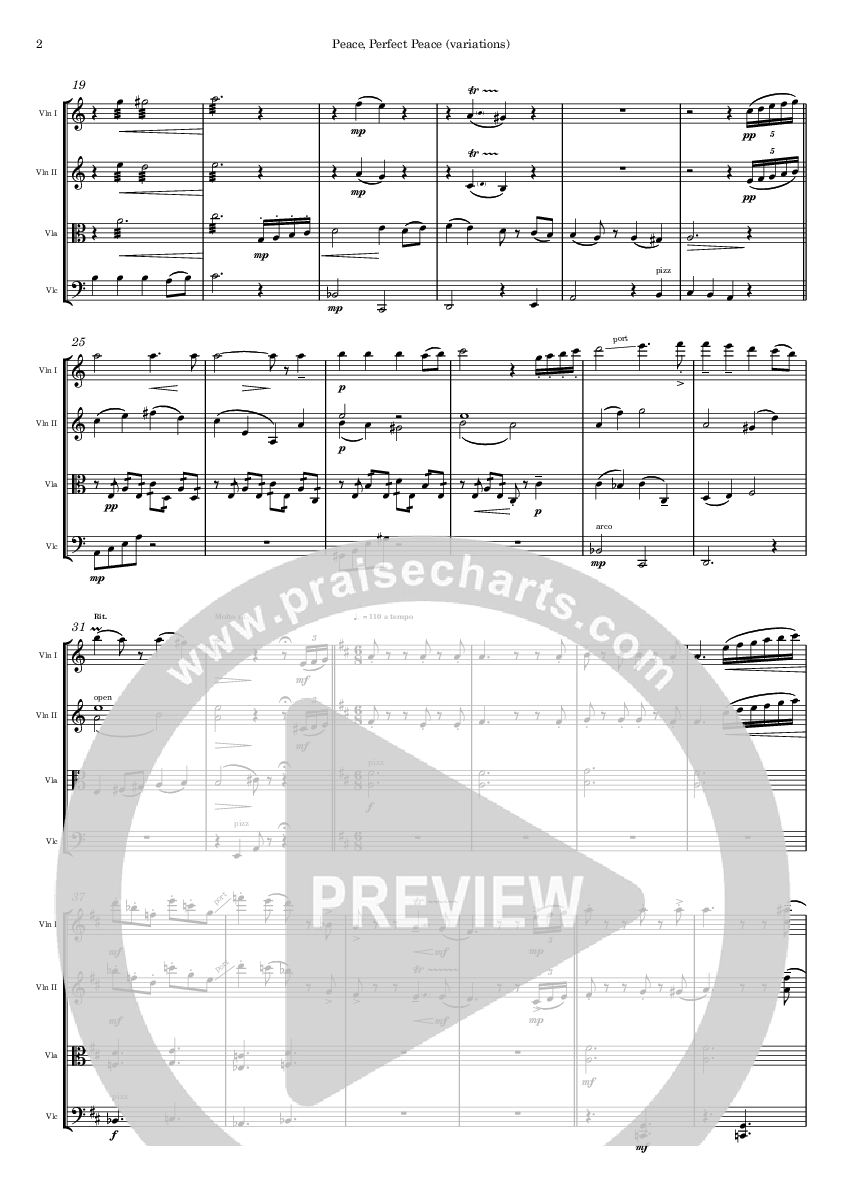 Peace Perfect Peace (Instrumental) String Ensemble (Ric Flauding)