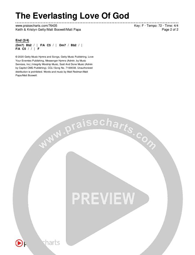 The Everlasting Love Of God Chords & Lyrics (Keith & Kristyn Getty / Matt Boswell / Matt Papa)