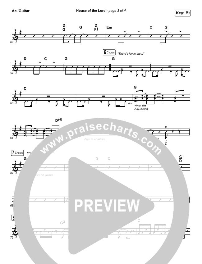 House Of The Lord Rhythm Chart (Phil Wickham)
