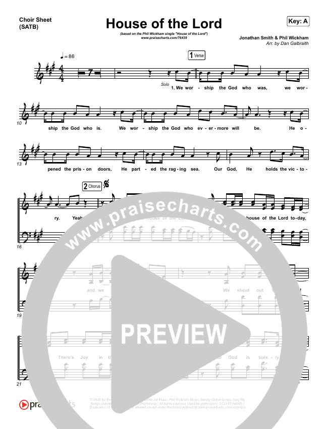 House Of The Lord Choir Sheet (SATB) (Phil Wickham)