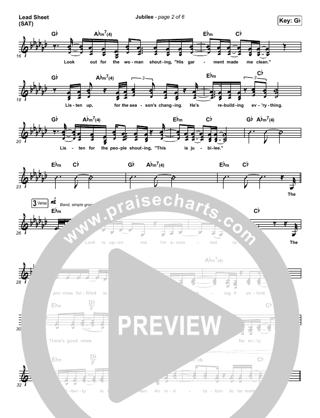 Jubilee Lead & Piano/Vocal (Maverick City Music)