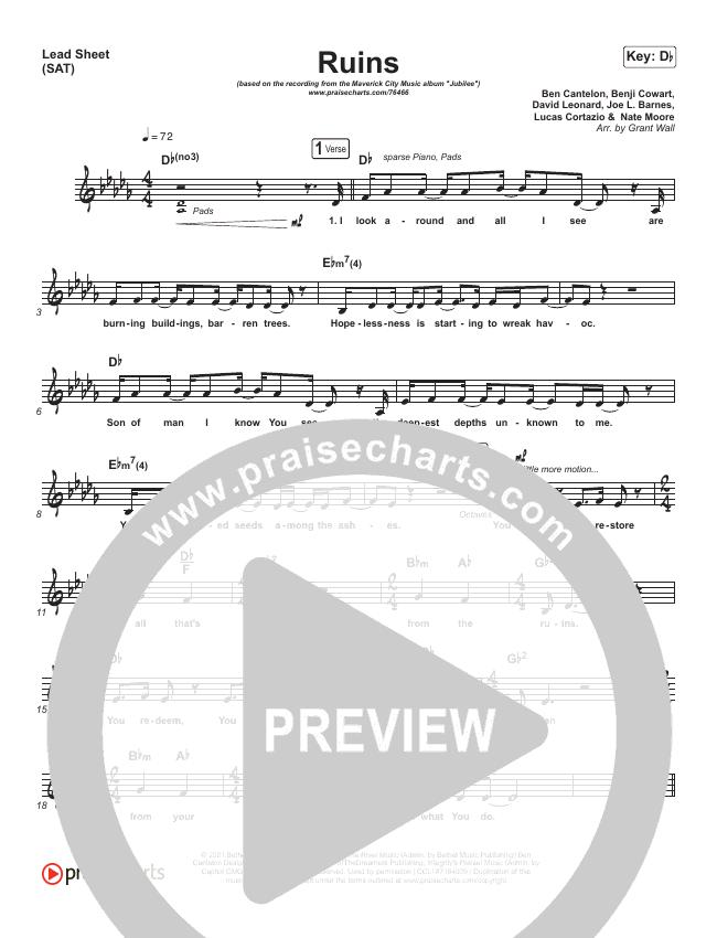 Ruins Piano/Vocal Pack (Maverick City Music)