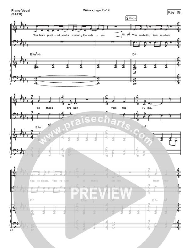 Ruins Piano/Vocal (SATB) (Maverick City Music)