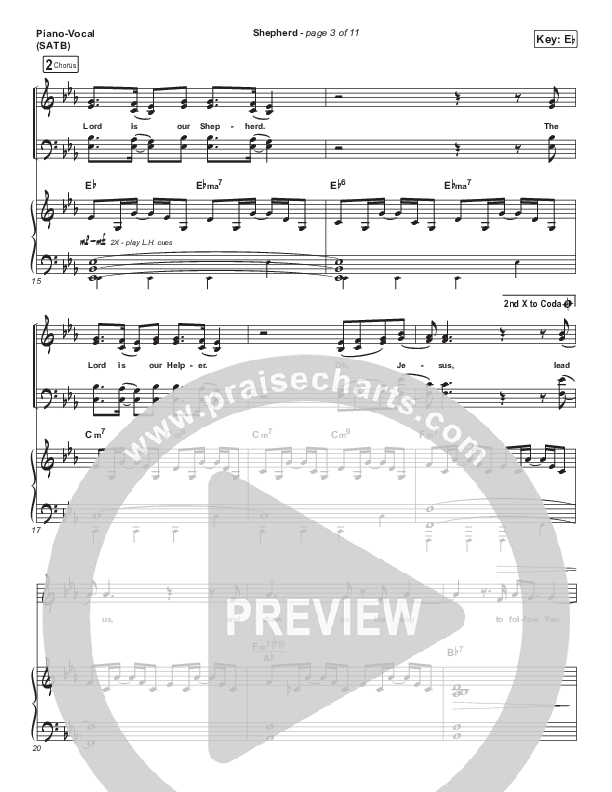 Shepherd (Live) Piano/Vocal (SATB) (CeCe Winans)